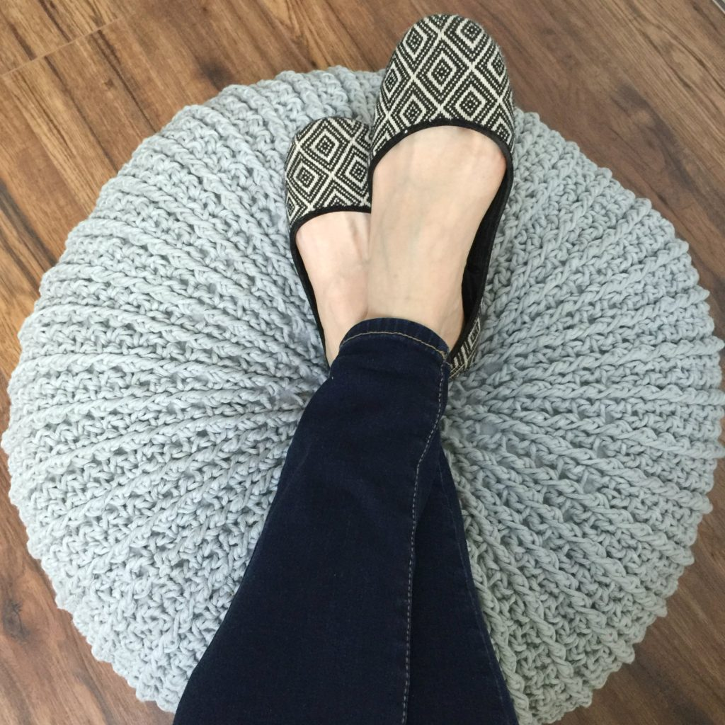 MJ's textured Floor Pouf