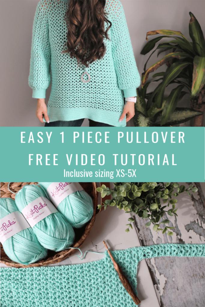 1 piece V stitch pullover