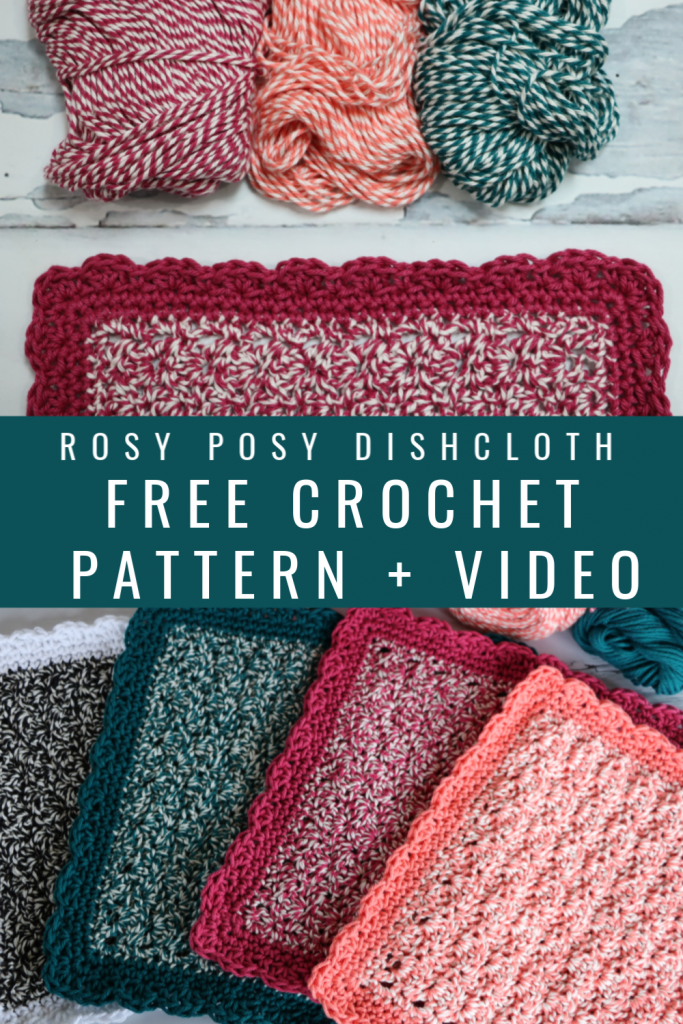 Rosy Posy Dishcloth