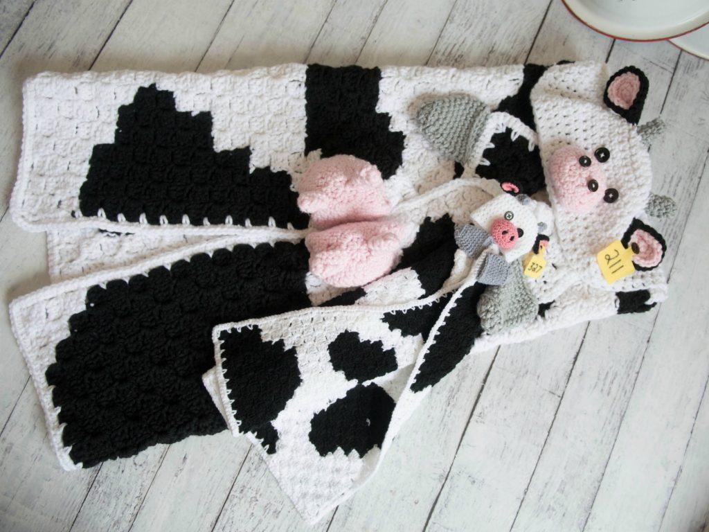 Hooded Cow Blanket
