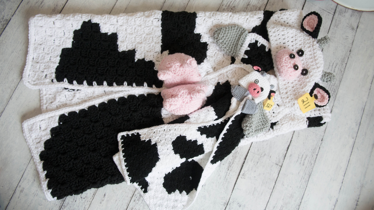 Hooded Cow Blanket Mj S Off The Hook Designs