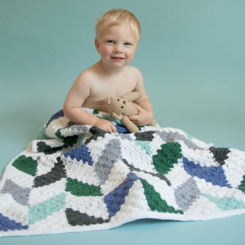 Modern Herringbone Baby Blanket
