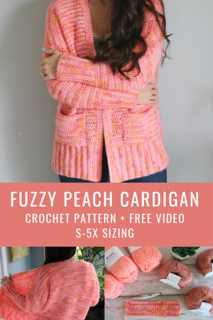 Fuzzy Peach Cardigan
