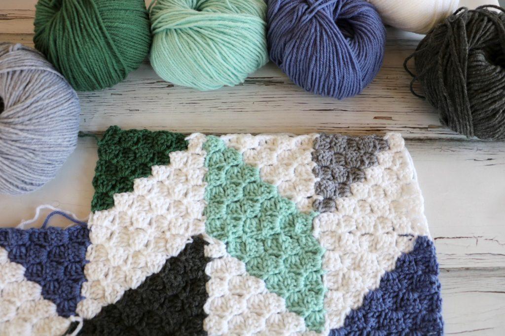 Modern Herringbone Baby Blanket Mj S Off The Hook Designs