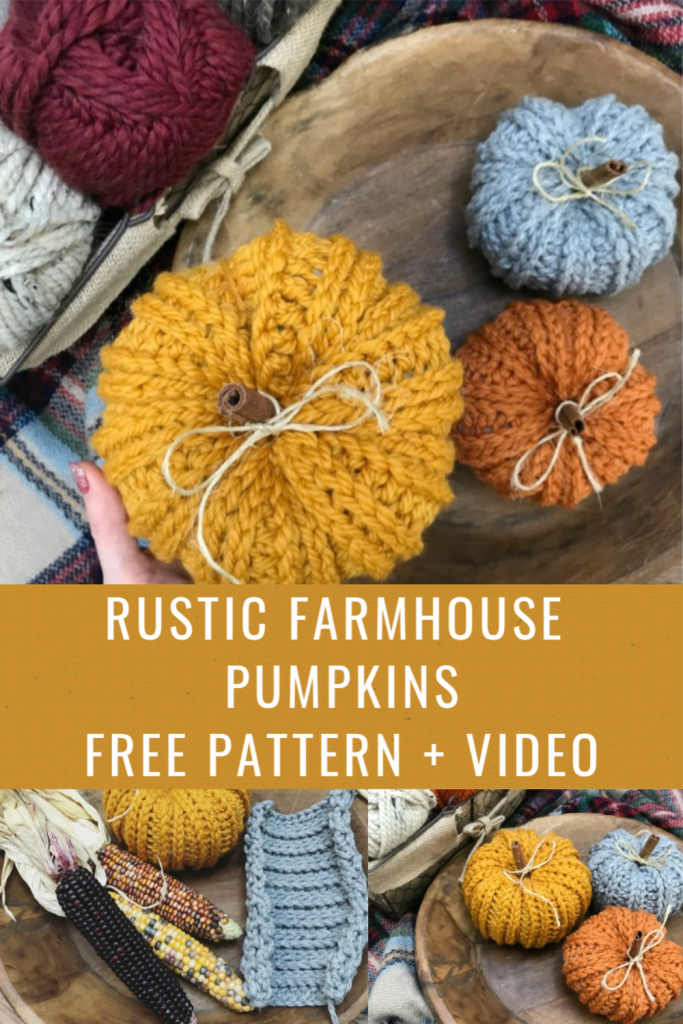 Crochet Rustic Farmhouse Pumpkins