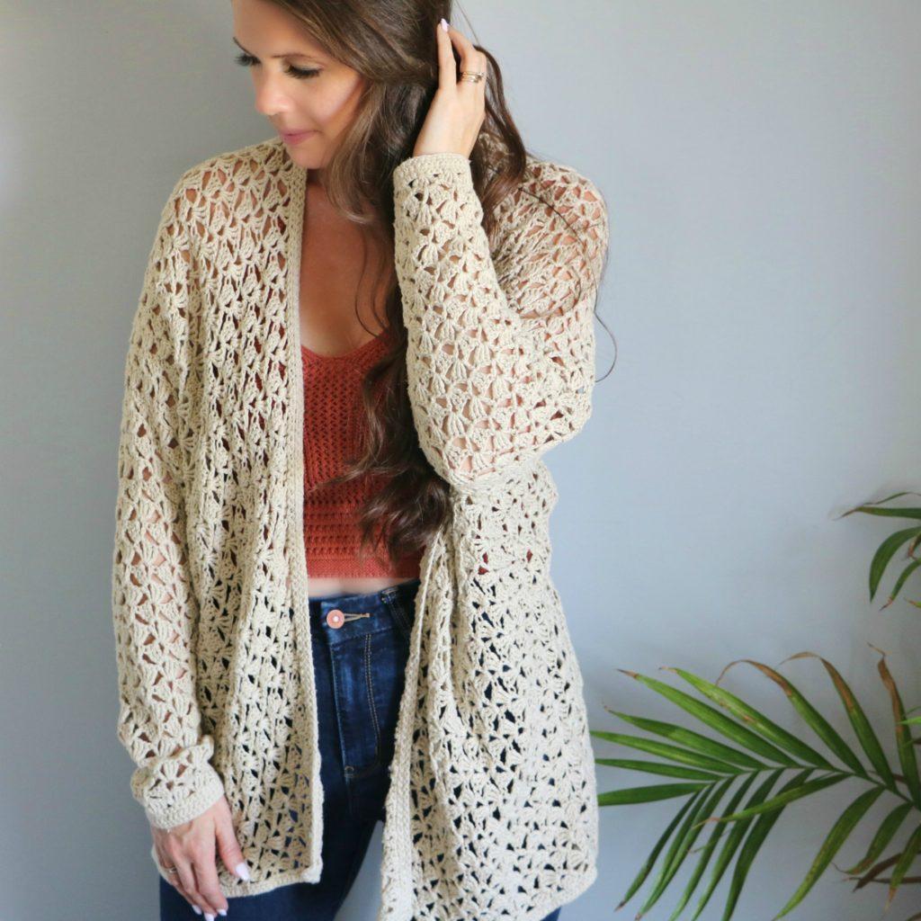 Crochet Lacy Spring Cardigan