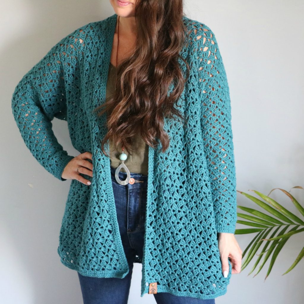 BK15-CROCHET PATTERN-Mesdames Lacy Cardigan//3 Tailles