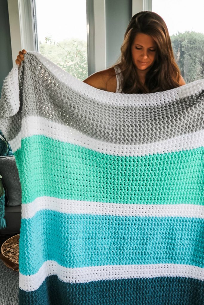 Calming Stripes Crochet Blanket