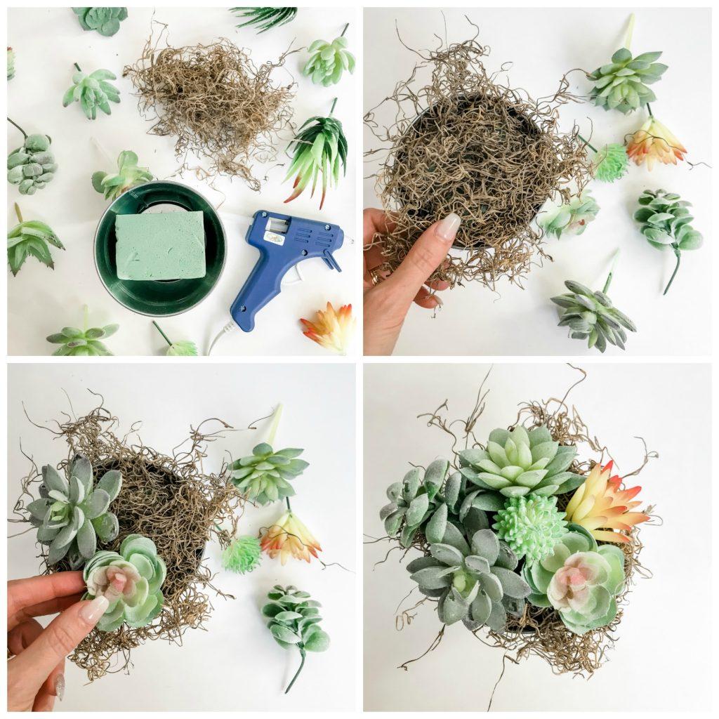 how to make a succulent pot.