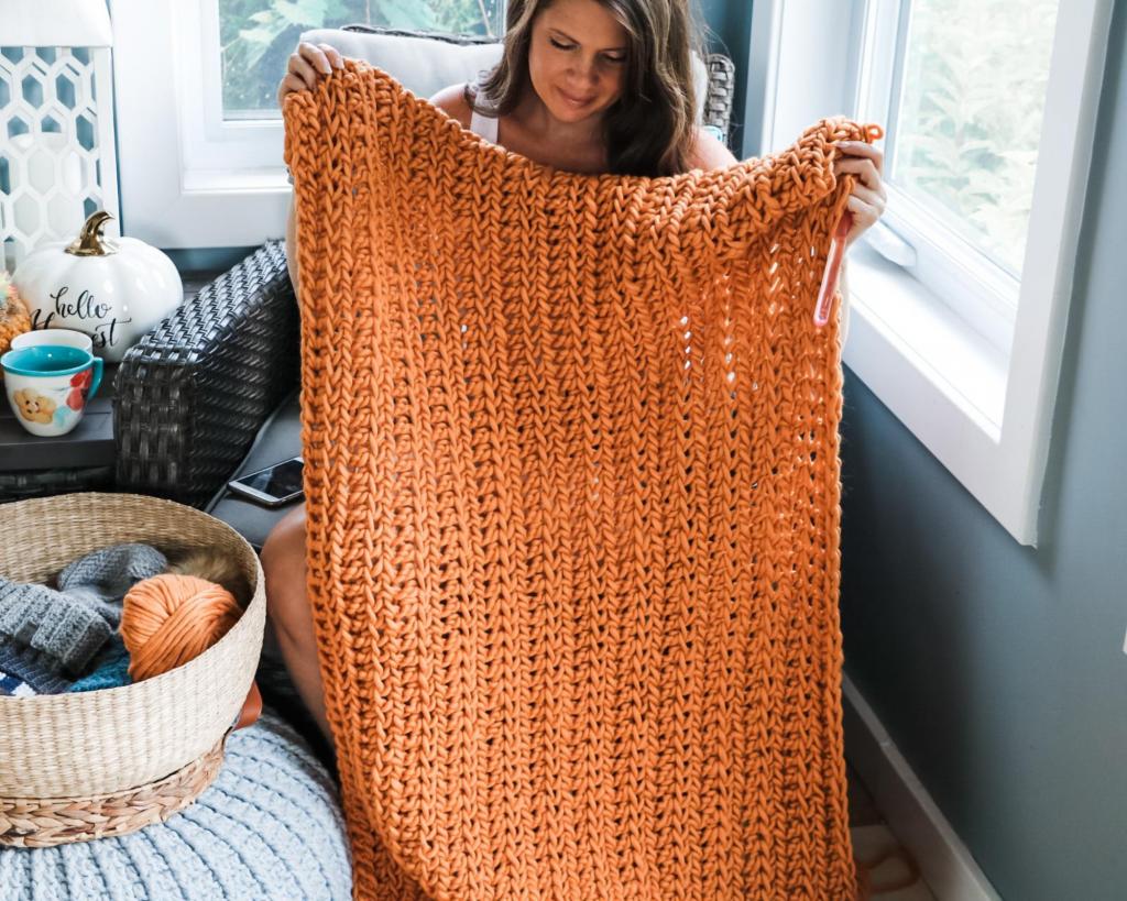 Crochet Chunky Blanket DIY
