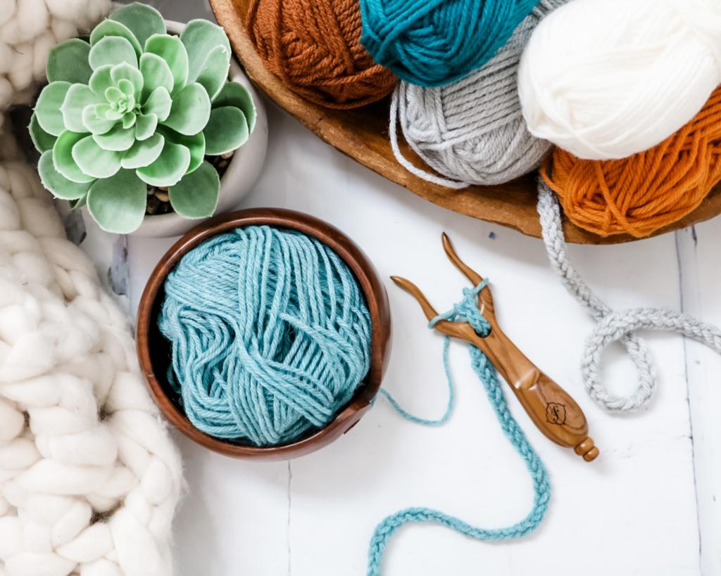 lucet fork from furls crochet