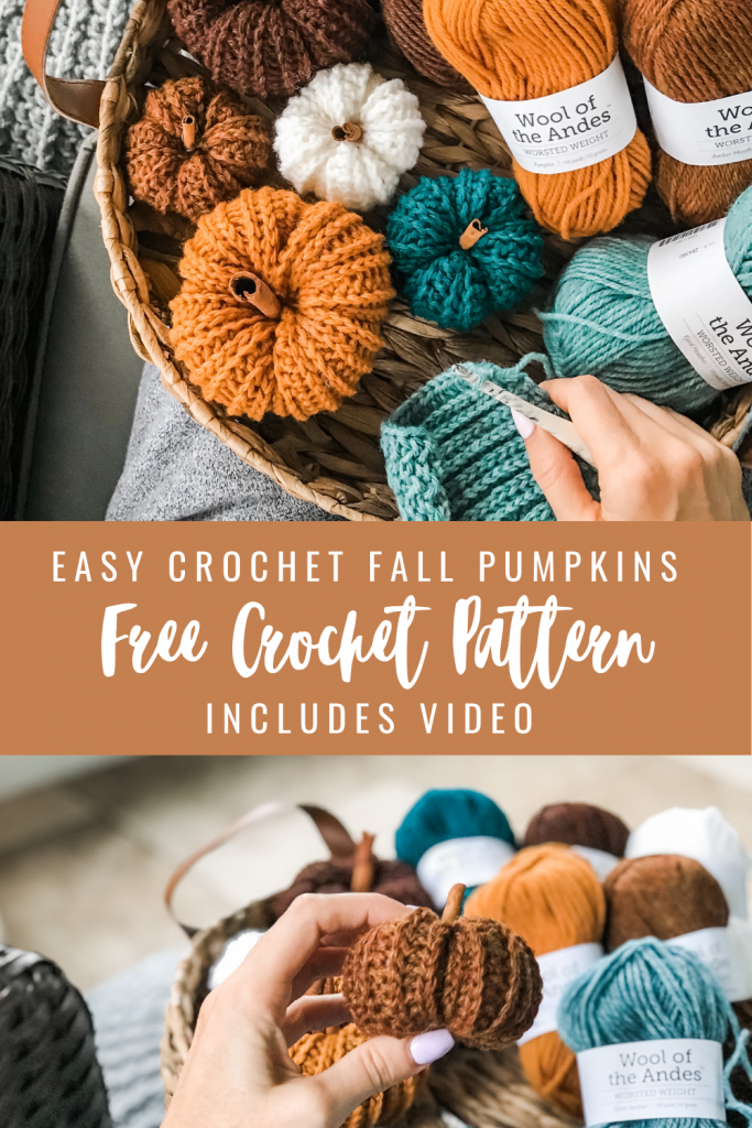 crochet Fall pumpkins free pattern