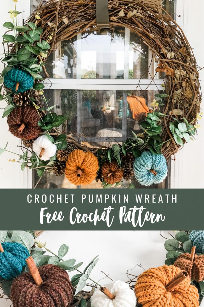 Crochet Fall Wreath by MJ's off the Hook Designs
