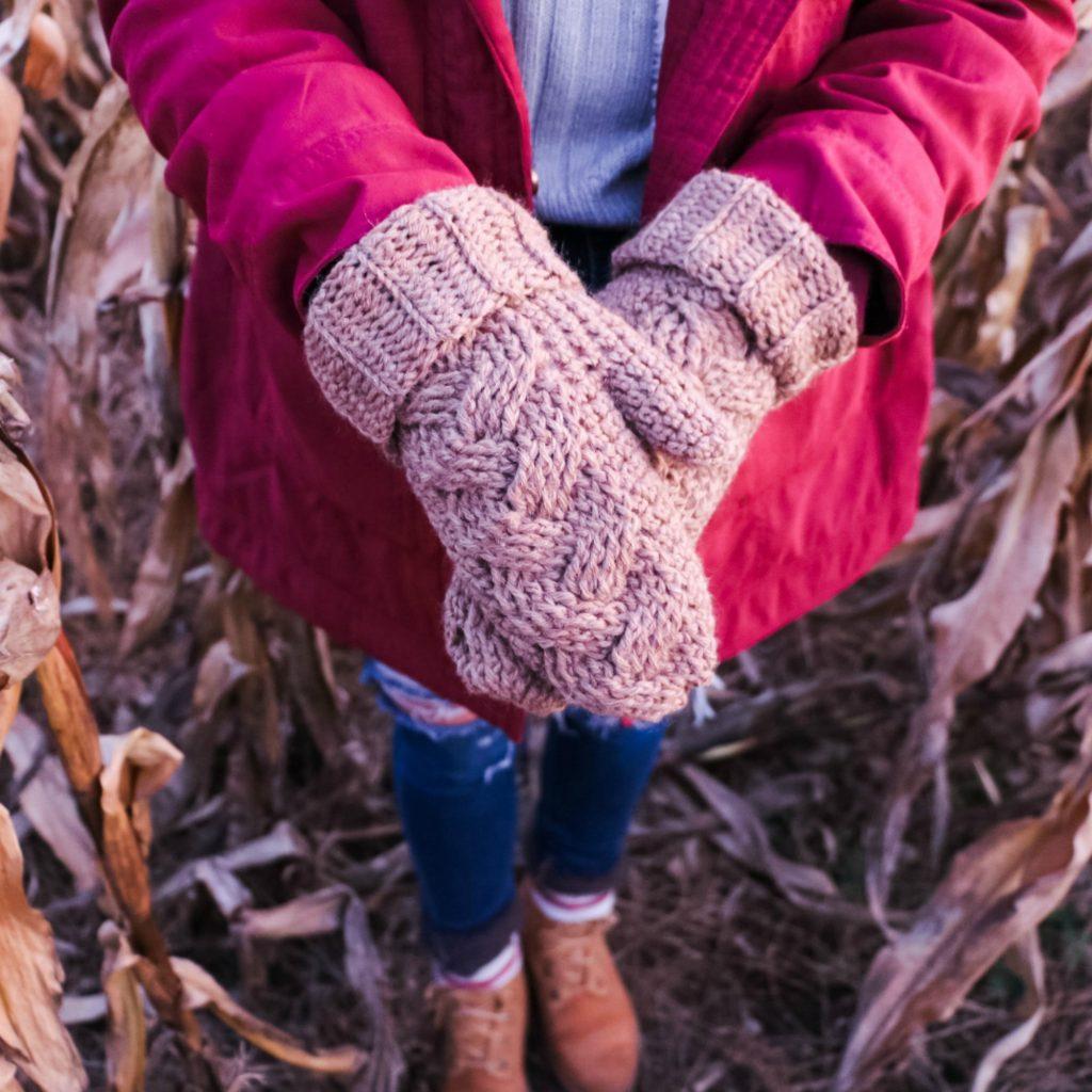 Braided Crochet Mittens