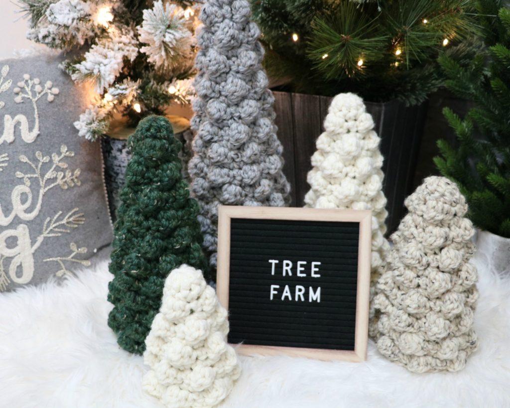 Crochet Bobble Tree Sweaters