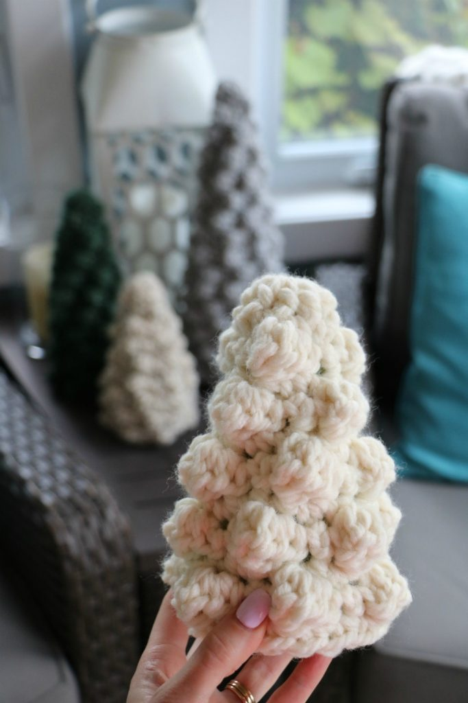 Crochet Bobble Tree Sweaters small tree