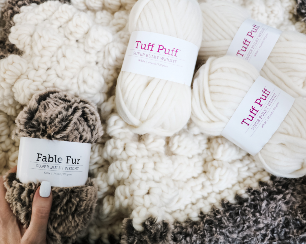 Tuff puff and fable fur yarn from wecrochet