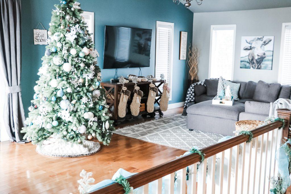 Christmas tree skirt and stockings