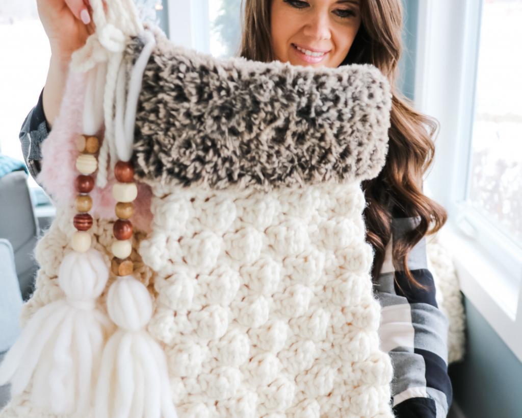 crochet bobble stocking