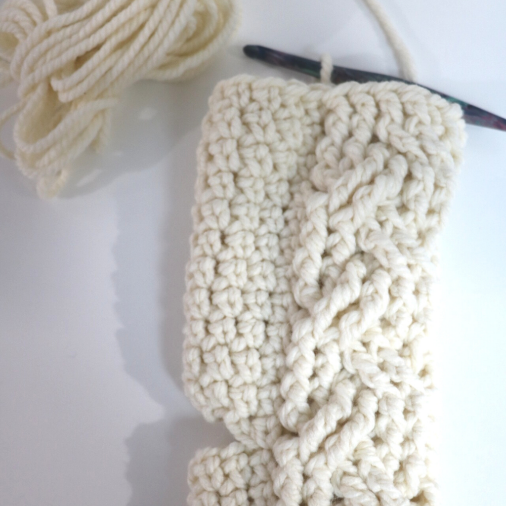 Cable Crochet Stocking