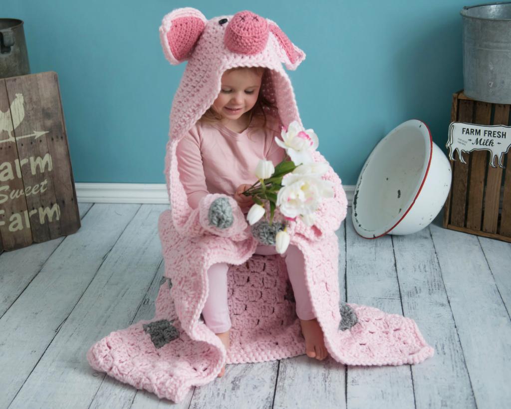 Crochet Pig Blanket