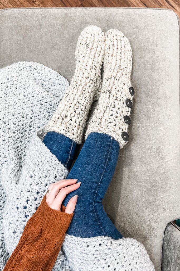 Crochet Slipper Boots Pattern