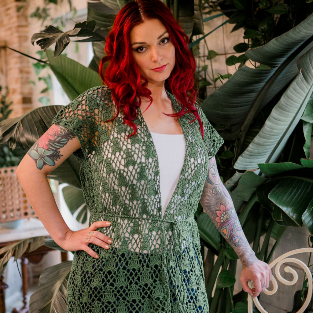 crochet sleeveless cardigan pattern