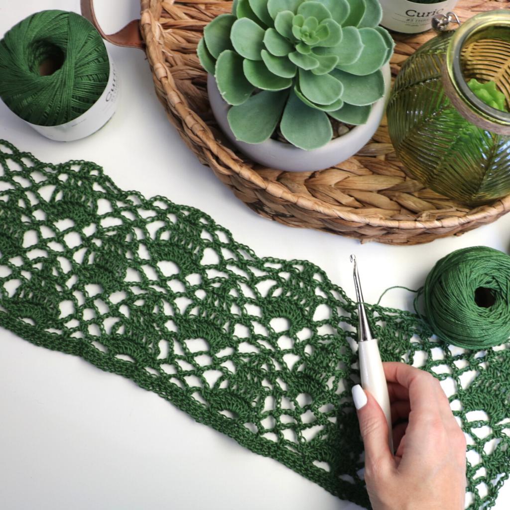 crochet lace stitch tutorial
