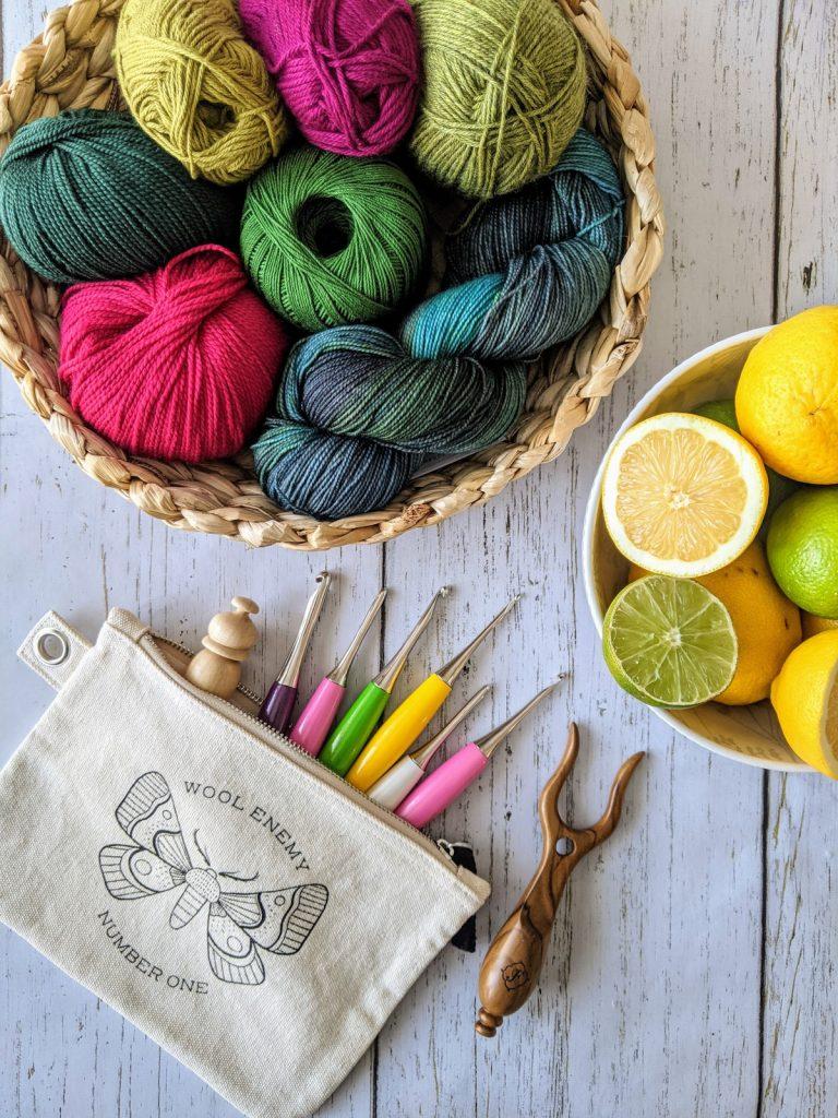 WeCrochet yarn and Furls hooks