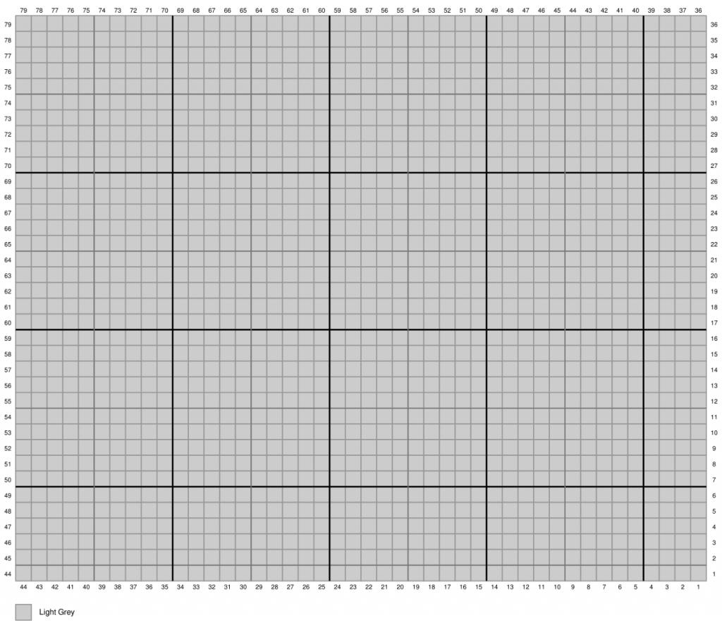 C2C crochet chart