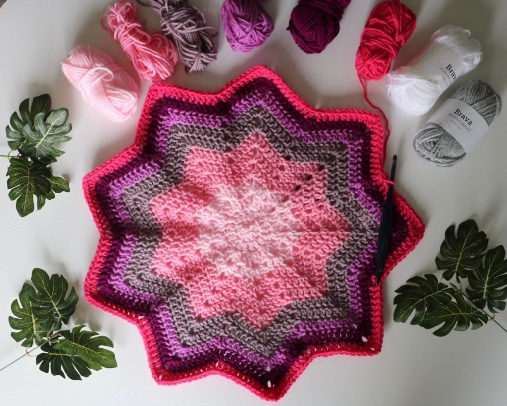 9 point star crochet pattern
