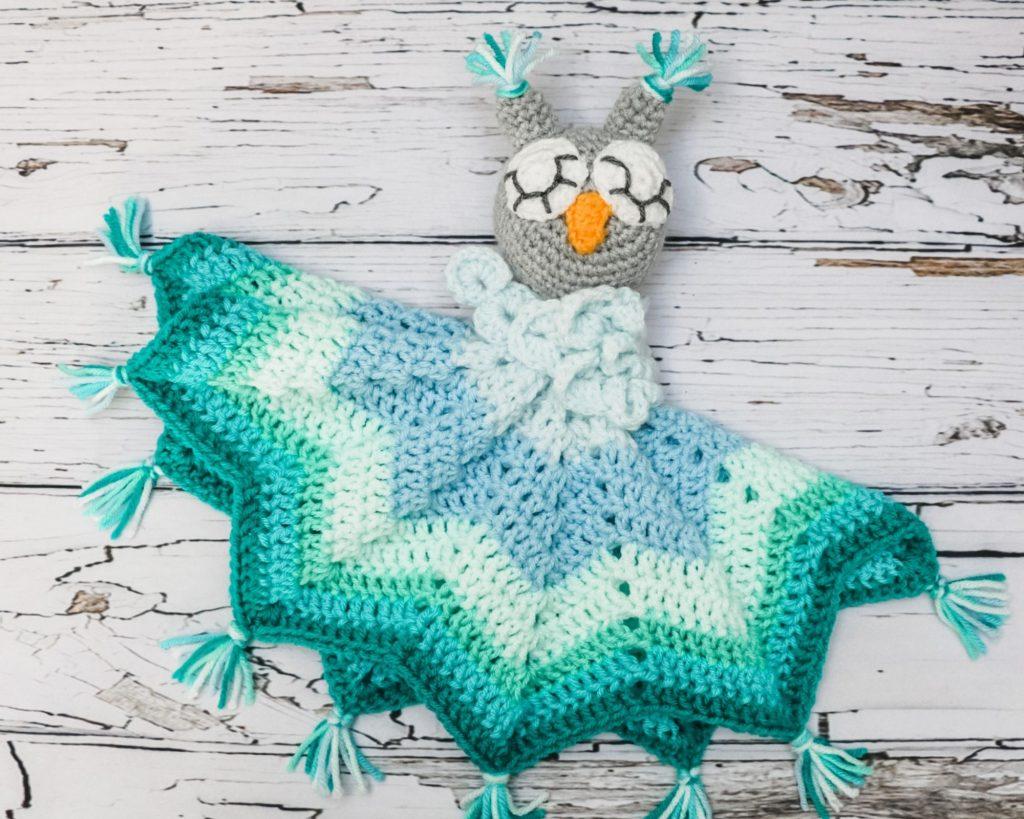 Crochet Baby Owl Lovey