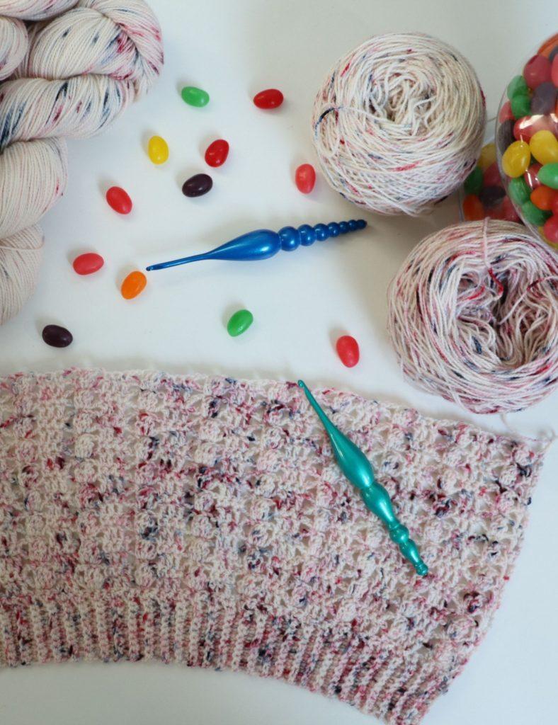 hawthorne speckle hand painted yarn