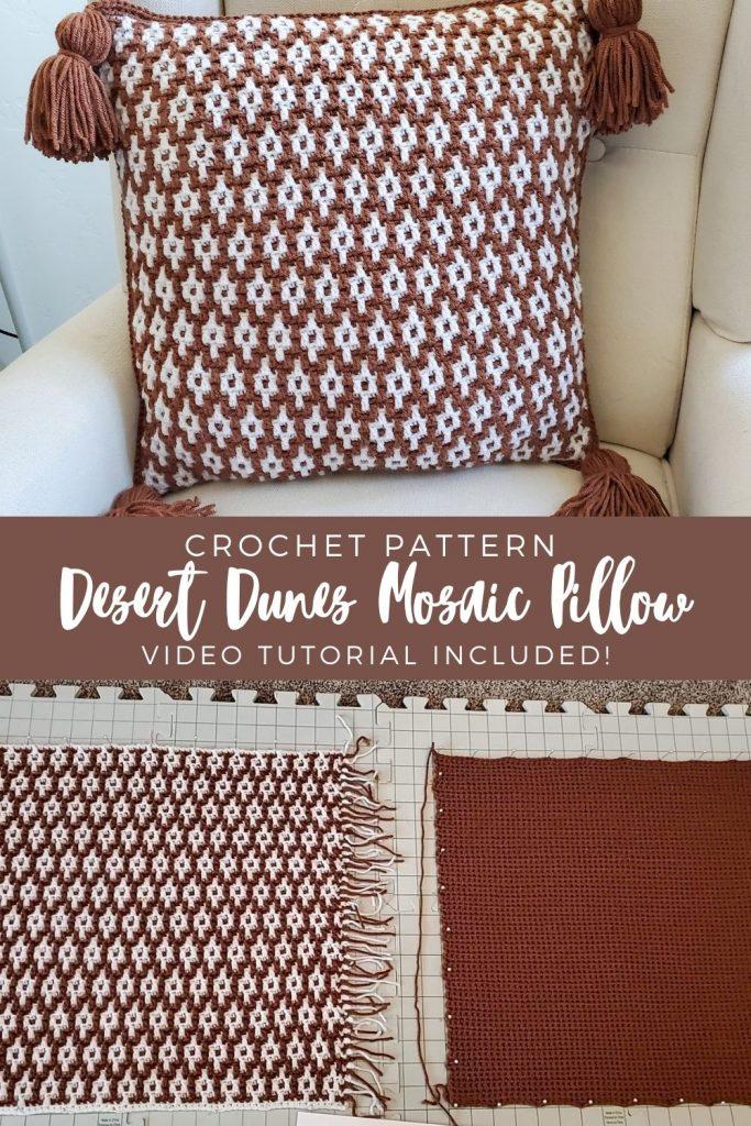 Almofada de mosaico Desert Dunes