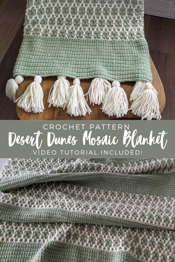 Cobertor de mosaico de dunas do deserto