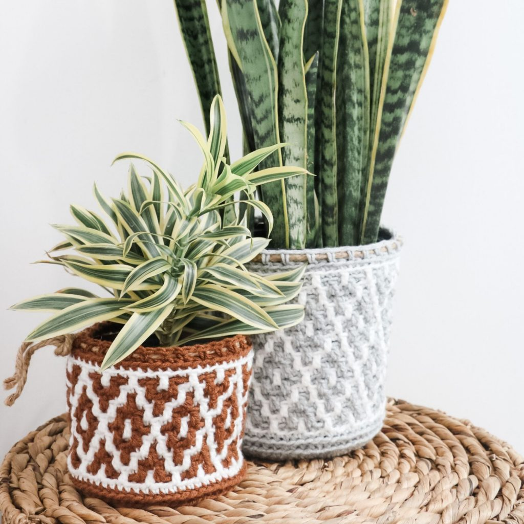 Potted Paradise Mosaic Basket