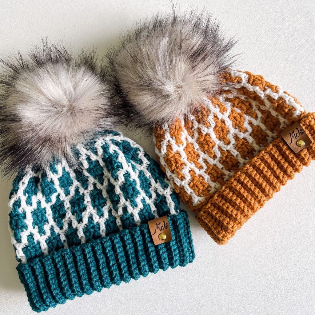 sombrero de ganchillo mosaico